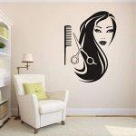 Vinilos decorativos para paredes de peluquerías