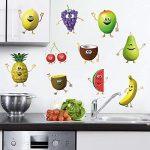Vinilos decorativos pared de frutas