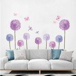 Vinilos decorativos para paredes flores